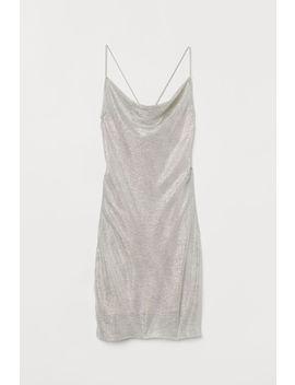 Блестящее платье металлик by H&M