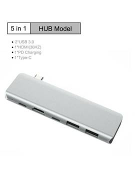 Hub Adaptador Tipo C Usb C 4 K Hdmi Dual Usb 3.0 Multiport Para Macbook Air 5in1 by Ebay Seller