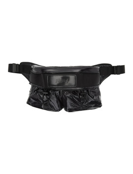 Black Shiny Belt Bag by Juun.J