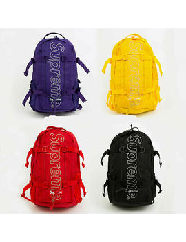 Supreme² Fw18 Backpack 45th Box Logo School Bag New Shoulder Waist Duffle Camo by !Supreme!