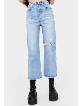 Ribcage Straight Leg Ankle Jeans by Levis