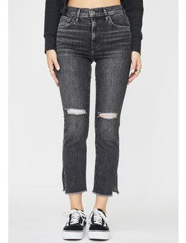 Dire Straits 724 High Rise Straight Crop Jeans by Levis