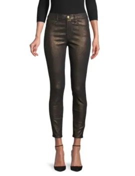 Le High Metallic Skinny Jeans by Frame Denim