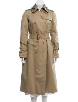 Woven Trench Coat by Burberry