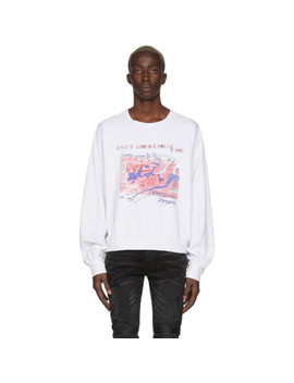 White 'she's Like Heroin' Long Sleeve T Shirt by Enfants Riches DÉprimÉs
