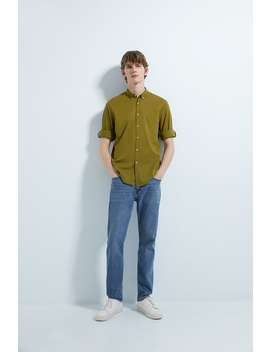 Voile Shirt With Sleeve Tabs by Zara