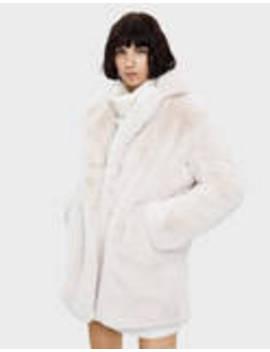 Παλτό από συνθετική γούνα Teddy by Bershka