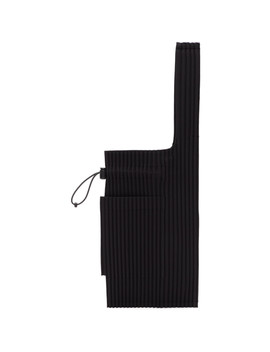 Black Small Pleats Easy Tote by Homme PlissÉ Issey Miyake