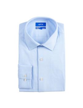 Men's Apt. 9® Slim Fit Wrinkle Resistant Stretch Dress Shirt by Apt. 9