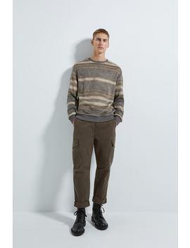 Striped Textured Weave Sweatshirt by Zara