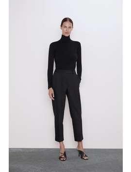 Bukse Med Oppbrett by Zara