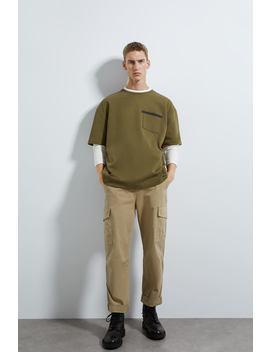 Premium T Shirt With Pocket by Zara