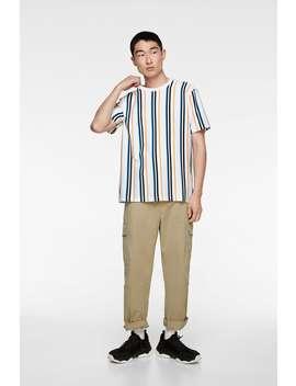 Vertical Stripe T Shirt by Zara