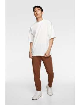 Premium High Neck T Shirt by Zara
