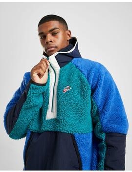 Nike Sportswear 1/2 Zip Sherpa Hoodie by Jd Sports