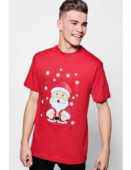 Christmas Santa T Shirt by Boohoo