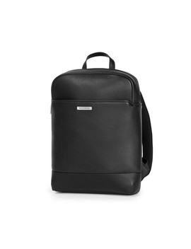 Moleskine   Match Leather Slim Backpack   Black by Moleskine
