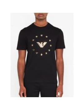 Eagle Logo T Shirt   Black by Emporio Armani