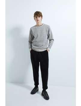 Sweatshirt With Contrast Ribbing by Zara