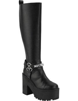 De Hex Knee High Boots by Killstar