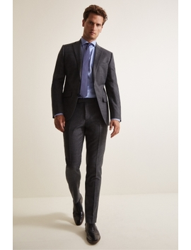 Moss 1851 Performance Tailored Fit Grey Milled Suit by Moss Bros