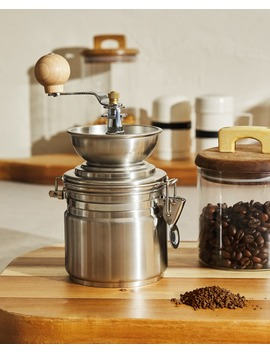 Coffee Grinder Made Of Steel And Wood  Coffee   Kitchen by Zara Home