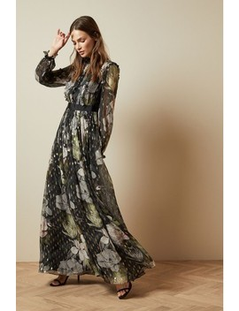 Ted Baker Black Printed Maxi Dress by Next