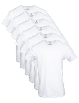 George Men's Crew T Shirts, 6 Pack by George