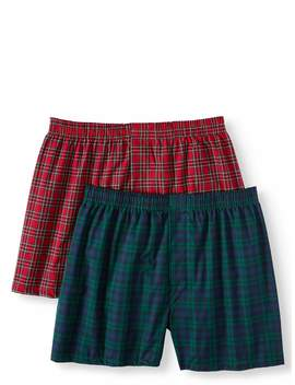 George Mens Woven Tartan Boxer by George