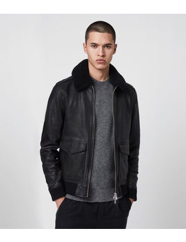 Phoenix Leather Aviator Jacket by Allsaints