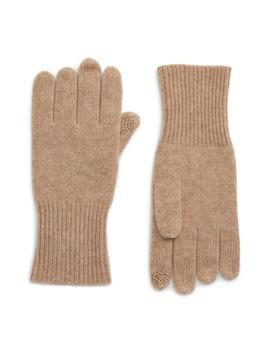 Rib Knit Cashmere Gloves by Halogen®