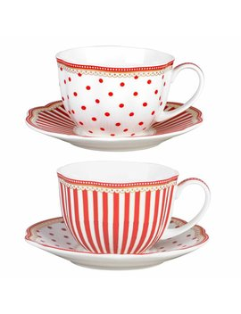 Krier Scallop 9 Oz. Coffee Cup And Saucer by Ophelia & Co.