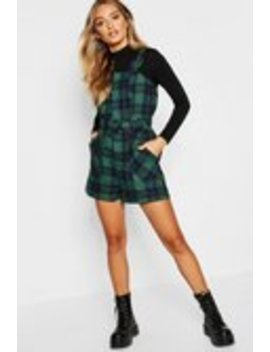 Tartan Check Buckle Strap Belted Playsuit Tartan Check Buckle Strap Belted Playsuit by Boohoo