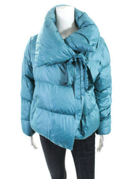Bacon  Womens Cropped Puffa Jacket Teal Blue Size Small 11503236 by Bacon