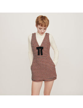 Tweed Style Playsuit by Maje