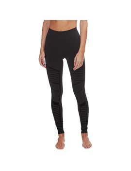 Flocked High Waist Moto Legging   Women's by Alo Yoga