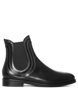 Black Leather Chelsea Boots by Alaia