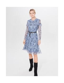 Sukienka We Wzory Z Falbanami by Mohito