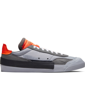 Nike Drop Type Lx Wolf Grey Total Orange by Stock X