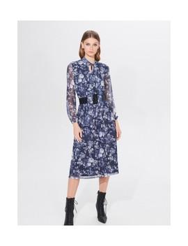 Sukienka Midi W Kwiaty by Mohito