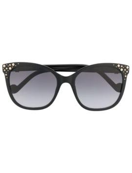 Studded Cat Eye Sunglasses by Liu Jo