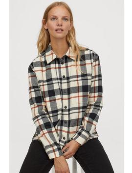 Flanelová Košeľová Bunda by H&M