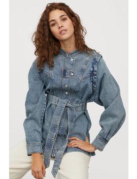 Košeľa So Zaväzovacím Opaskom by H&M