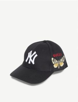 New York Yankees™ Patch Canvas Baseball Cap by Gucci