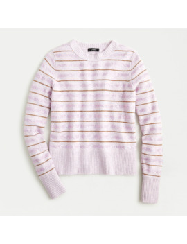 Sequin Striped Sweater In Supersoft Yarn by J.Crew