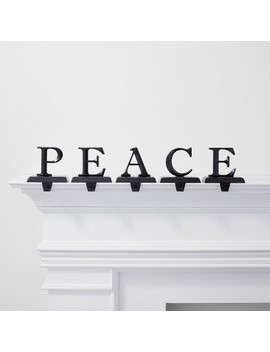 5pk Peace Stocking Holder Black   Wondershop™ by Wondershop