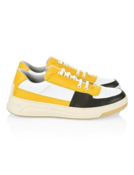 Perry Colorblock Leather Sneakers by Acne Studios
