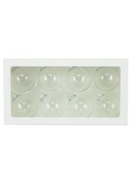 "8ct. Clear Glass Ball Ornaments, 2.5"" By Art Minds™ by Ashland"