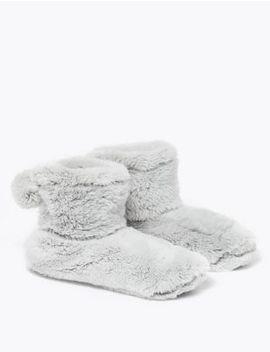 Fleece Bootie Slippers by Marks & Spencer