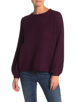 Popcorn Knit Sweater by 14th & Union